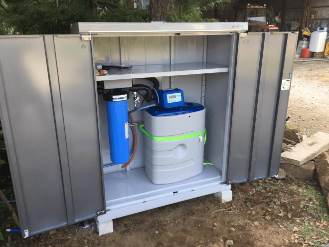 つくば市での軟水器設置工事