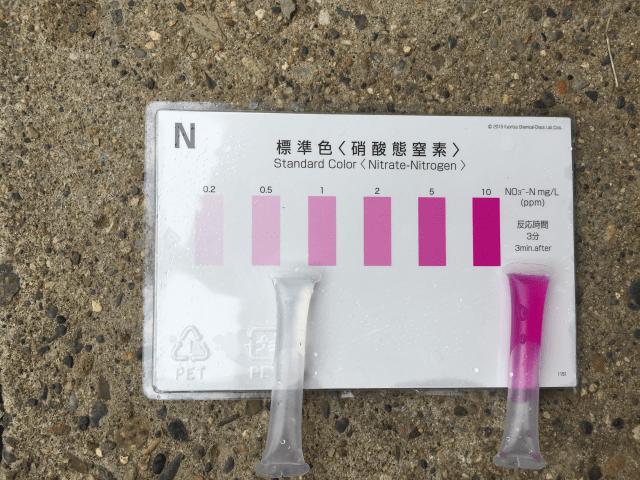 硝酸態窒素の簡易パックテスト